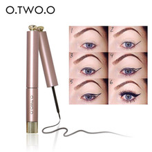 O.TWO.O Waterproof Softly Cool Black Liquid Eyeliner Pen Make Up Beauty Easy to Color Eye Liner Pencil Cosmetics Hot Sale
