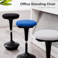 Perch Leaning Wooble Stool, Adjustable Ergonomic Active Sit/Stand Backless Swivel Desk Chair GB недорого