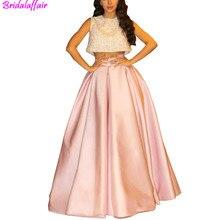 Fashionable Two Pieces Lebanon Singer Celebrity Prom Dresses Plus Size Lace Pink Ball Gowns Vestidos De Longo Evening