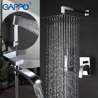 GAPPO Bathroom Wall Mounted Rain Shower Faucet In Wall Rainfall Shower Faucet Bathtub Faucets Luxury Bathroom