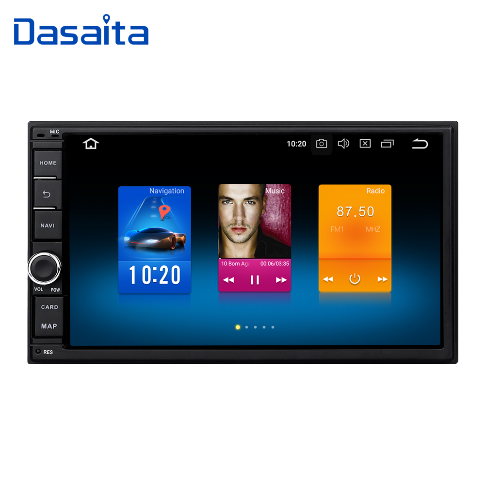 Dasaita 7 Android 8,0 Octa Core 4 г + 32 г Универсальный двойной 2 Din для автомобиля Nissan аудио стерео gps навигации радио Автомобильный мультимедийный