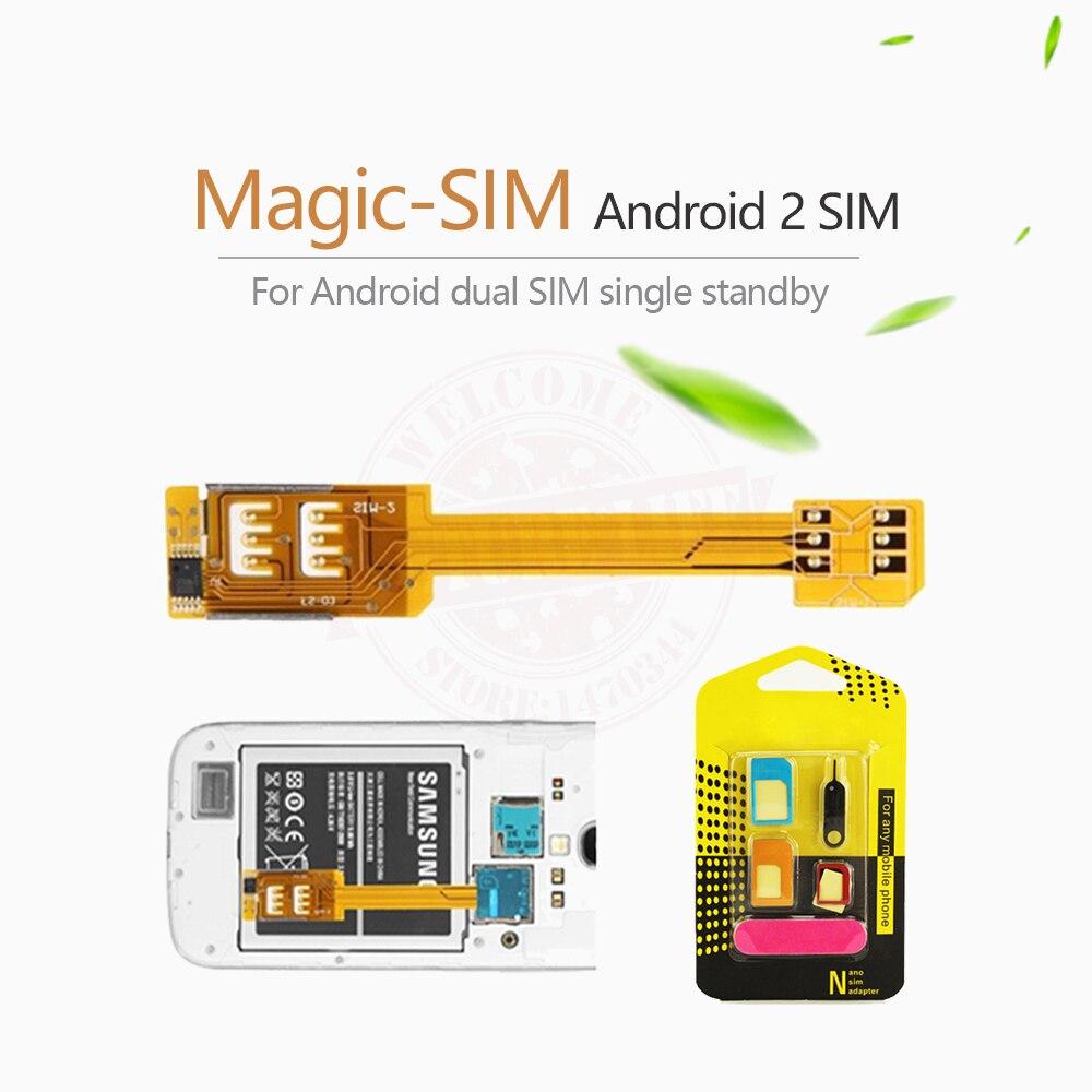 bf041ee6f5e Dual 2 adaptador de tarjeta sim + 5 en 1 adaptador de sim potenciadores de  la señal para samsung galaxy s5 g900, S4 i9500 S3 i9300, nota 3 N9000, ...