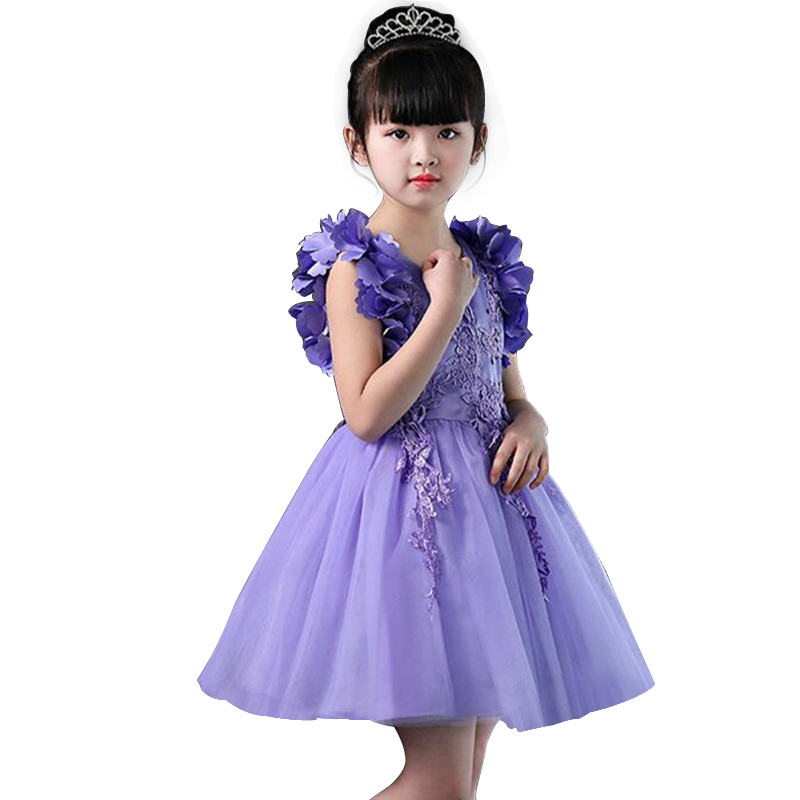 Kids Dress for Girls Embroidery Flower Ball Gown Baby Girl Princess Dresses for Party Costumes vestido Pageant Sleeveless 2016 new girl embroidery princess sleeveless dress kids baby children s party ball gown vestido de festa for 3 10y