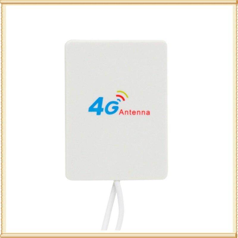 20 PCS Doppel TS9/CRC9/SMA stecker 4g Lte Pannel Antenne 3g 4g Router anetnna für huawei ZTE modem router 5 M kabel