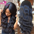 Unprocessed Virgin Peruvian Full Lace Wig With Baby Hair 130Density Body Wave Glueless Full Lace Human Hair Wigs For Black Women