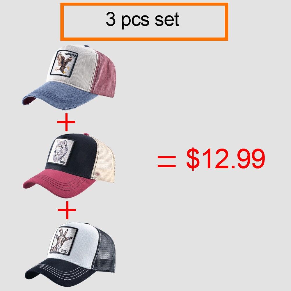 Snapback Dad Hats For Men Summer Breathable Mesh Baseball Cap Women 3pcs Baseball Hat Set Unisex Fashion Hip Hop Bone Sets 2
