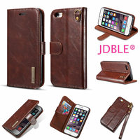 JDBLE Luxury Flip Stripe Adsorption Cover For IPhone6 6S 6Plus Cases Real Genuine Leather Vintage Wallet