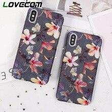 LOVECOM Muz Yaprağı Çiçekler Kiraz Bitkiler Telefonu iphone kılıfları XR XS Max 6 6 S 7 8 Artı X XS Sert fırçalama Telefonu Çant...