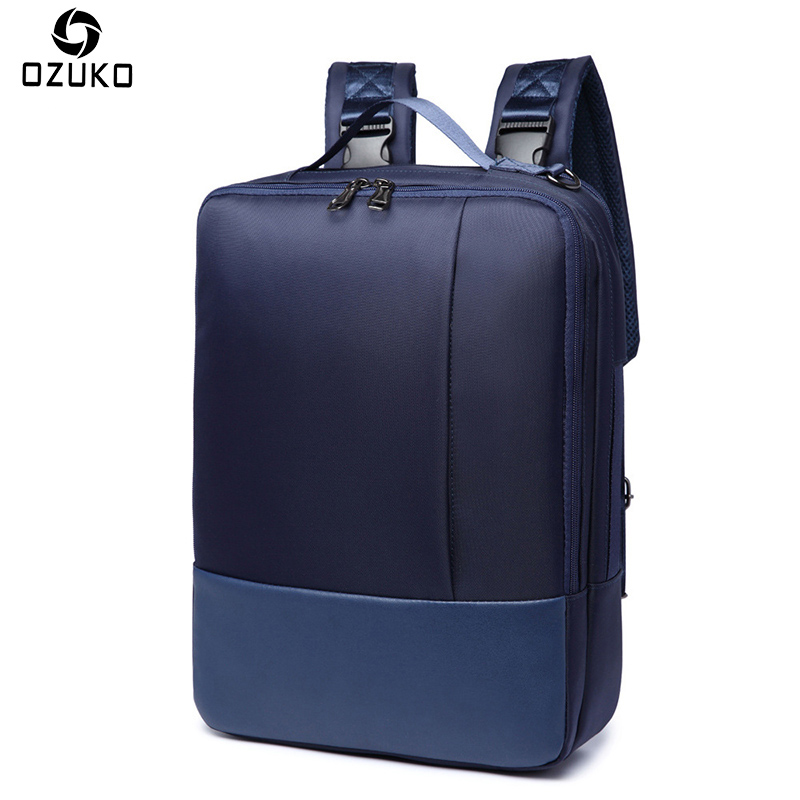 OZUKO Business Laptop Backpack Men's Multifunction College School Bags for teenager casual Travel fashion Male Bag Mochila 2018 ozuko multi functional men backpack waterproof usb charge computer backpacks 15inch laptop bag creative student school bags 2018