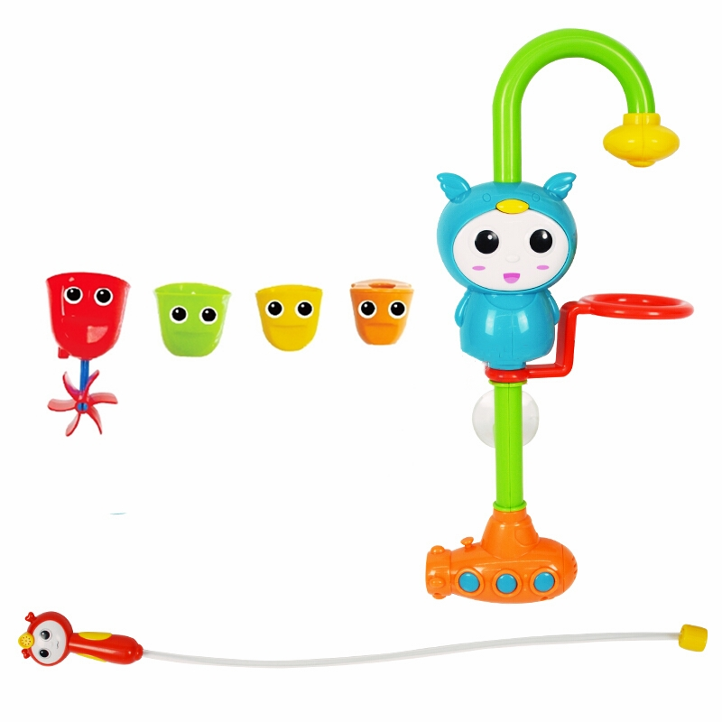 Cute Animals New Electric Bath Toys Sprinkler Shower Swimming Toy Colorful Shower Early Learning Educational Toys Gifts For Kid) children swimming bath toy electric shower spray starfish