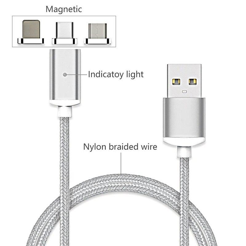 Nylon Geflochtene USB Typ C/IOS/Micro Magnetic Kabel Typ C USB-C ...