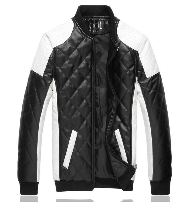 new fashion mens jacket Simple pu leather jacket Motorcycle jacket slim mens Winter coat mens jackets mens Outwear M-5XL