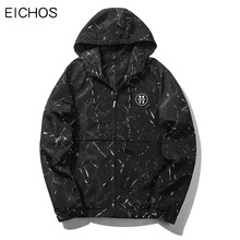 EICHOS Mens Jackets 2017 Fashion Camouflage Printed Hooded Thin Jacket Men Casual Zipper Sporting Sunscreen Clothing JK083103
