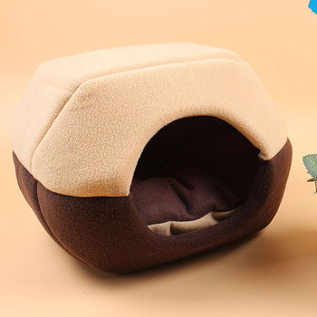 Foldable Soft Warm Winter Cat Dog Bed House Animal Puppy Cave Sleeping Mat Pad Nest Kennel Pet Supplies Hot Sale 3