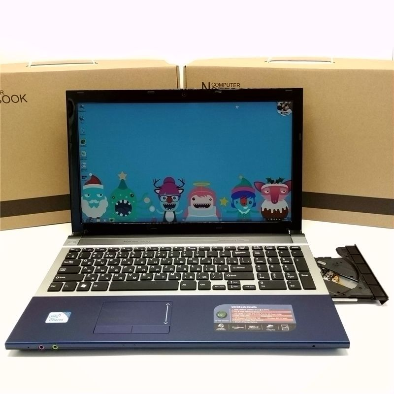 Free Shipment!15 inch gaming laptop notebook computer Wtih DVD 8GB DDR3 1TB HDD in-tel celeron J1900 2.0Ghz WIFI webcam HDMI