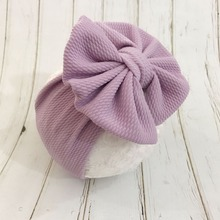 7 Inch Big Bow Headband For Girls 2019 Solid Large Hair Bows Elastic Turban Head Wraps Kids Top Knot Hairband Hair Accessories цена в Москве и Питере
