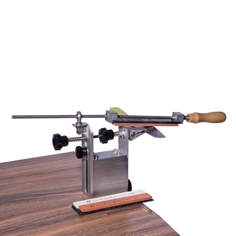 Recentes professional pro Ápice Borda sistema afiador de facas de cozinha com 3 pcs Whetstones + liga De Alumínio + G grampo