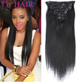 #1 Clip in human hair extensions 100%unprocessed brazilian virgin hair clip in extension DHL free shipping brazilian virgin hair