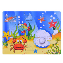 3D Paper jigsaw puzzles toys for children kids brinquedos Ocean World puzzle educational Baby Sea star Fish Puzles