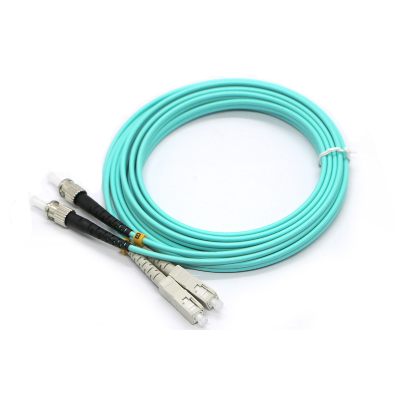 ZHWCOMM 10PCS 3M SC ST Multimode Duplex Fiber Optic Patch Cord OM3 fiber optic patch cable FTTH 10g Optical fiber jumper