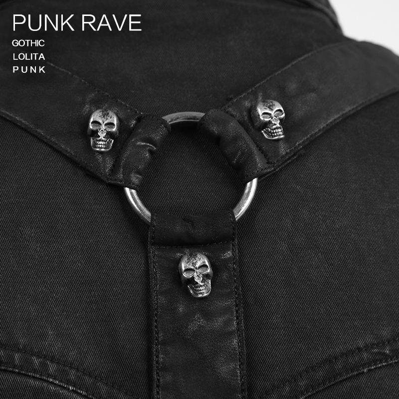 Готическая новая рок повязка черная уличная крутая футболка модная визуальная Kei Heavey металлическая Черная Мужская футболка L 3XL Панк рейв Y 530 - 5