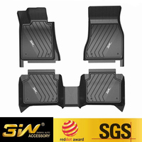 Car floor mats For BMW X1 with 3w Customized Special tpe,black