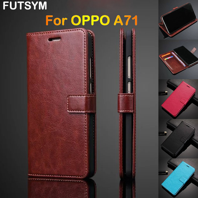 big sale e8008 85699 US $4.59 8% OFF|Flip Leather Wallet Mobile Phone Cover Wholesale for OPPO  A71 Case Luxury Original Ultra Thin Slim Case Cover for Women Men-in Flip  ...