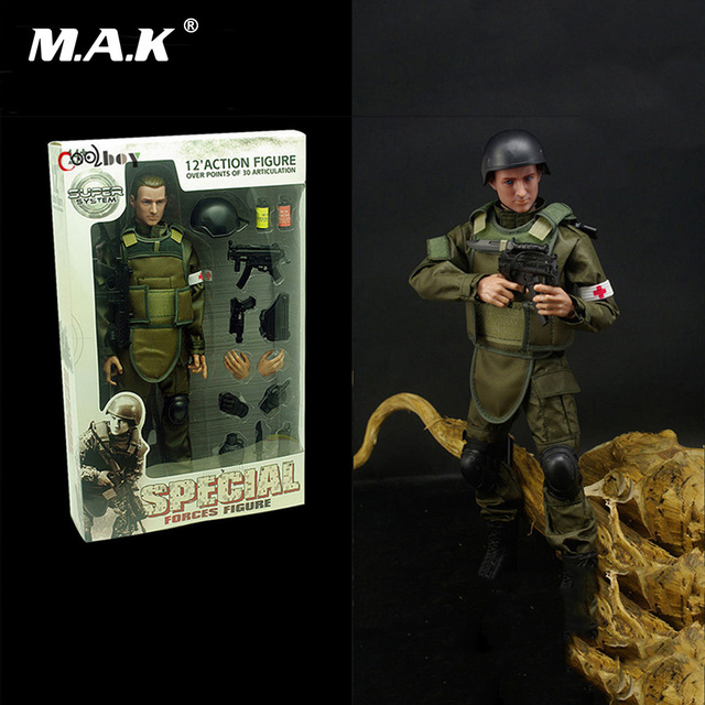 1:6 Scale Solider Medical Guards Figure Military Combat Suit Soldier Model Toys for Gift with Box