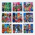2014 nuevo verano del bebé de la historieta de ben 10 niños del algodón de la blancanieves niños calcetín calcetines encantadoras muchachas de los muchachos 4 diseños 12 par/lote