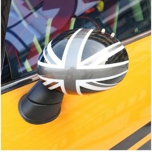Image 4 - 외부 도어 백미러 장식 보호대 쉘 커버 하우징 미니 쿠퍼 용 s jcw f56 f55 자동차 스타일링 액세서리