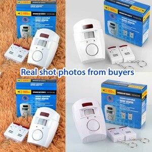 Image 4 - 2 Afstandsbediening Draadloze Home Security Pir Alert Infrarood Sensor Alarmsysteem Anti Diefstal Bewegingsmelder Alarm 105DB Sirene