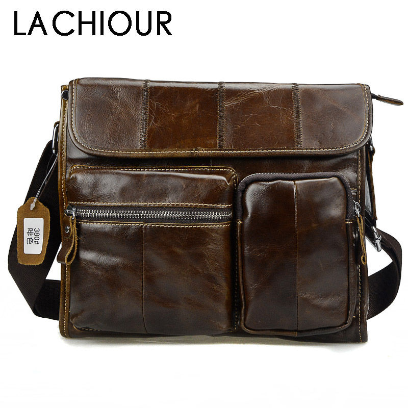 2018 Fashion Oil Wax Genuine Leather Men Bag Brand Messenger Bags For Men High Quality Vintage Leather Male Travel Handbags aetoo the new oil wax cow leather bags real leather bag fashion in europe and america big capacity of the bag