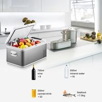18L автомобильный холодильник морозильник AC/DC портативный для автомобиля дома Пикник Кемпинг вечерние светодиодный компрессор портативные