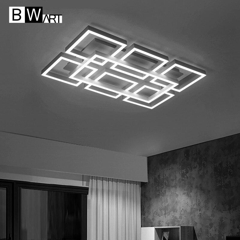 BWART минималистский современный светодиодный потолочный Люстра для гостиной спальня домашнего декоративного освещения прямоугольник люст...