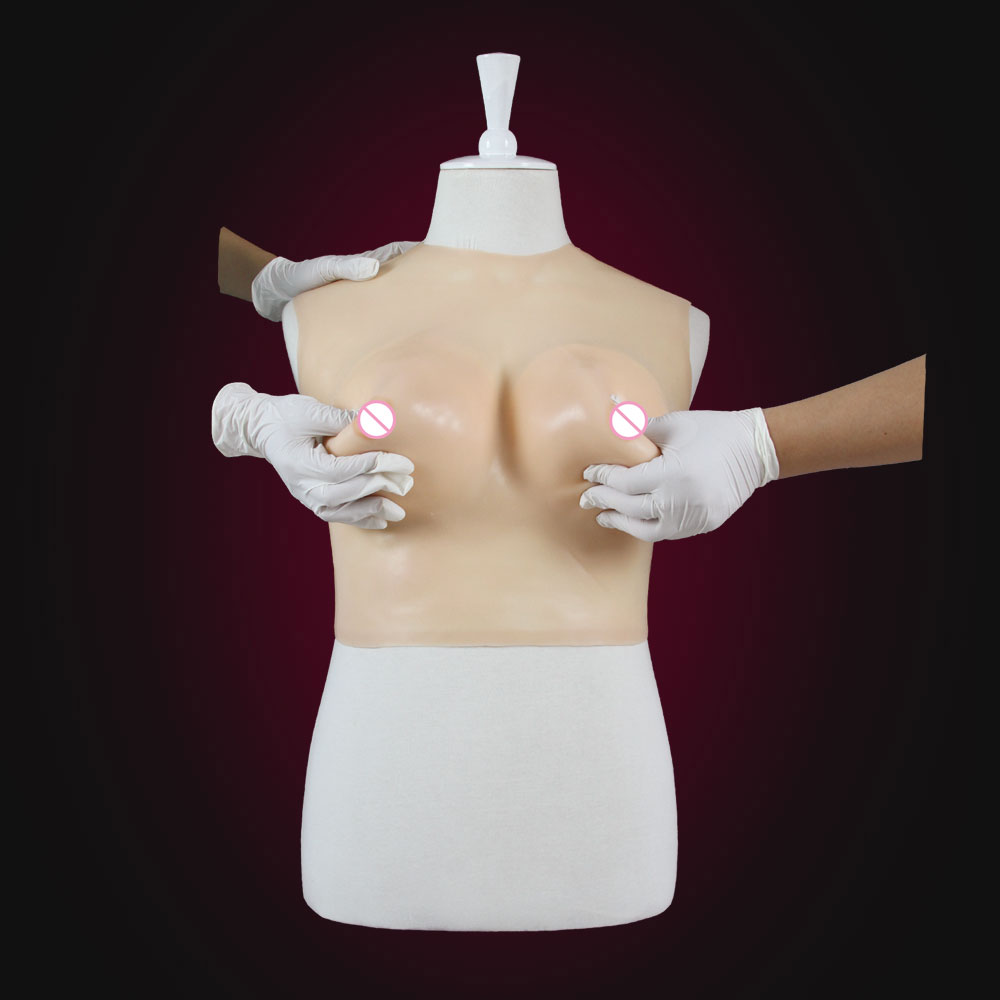 2016Top quality realistic silicone breast forms easy curves bust enhancer artificial breasts crossdresser