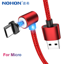 NOHON 90 Degree USB Magnetic Fast Charger Cable Micro Magnet For Samsung S6 Xiaomi Redmi 4 Android Phone Charging 2M