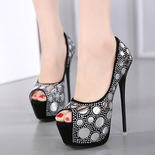 2017 Sexy Sequins Women's Pumps  High Heels Peep Toe Wedding Shoes Woman  Platform Pumps Seasons Shoes