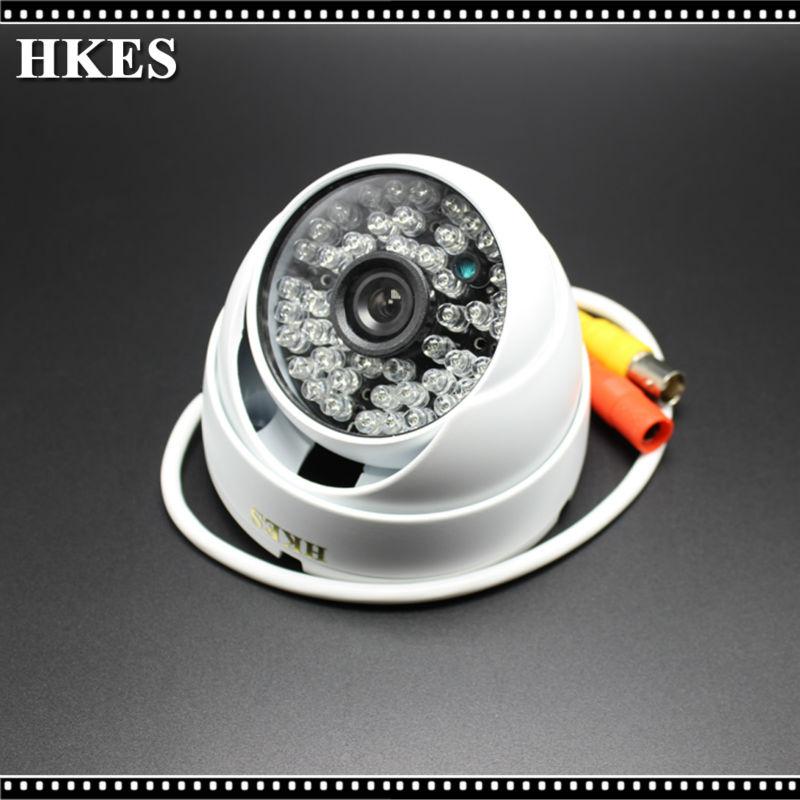 Vandalproof 2500 TVL 48Pcs IR LED Color Outdoor Indoor Dome Camera Security CCTV AHD Camara resistente al agua