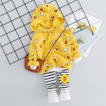 New 2019 Baby Girls Clothes Suits Autumn Toddler Infant Clothing Sets Hooded T Shirt Stripe Pants Children Costume Kids Suit цены онлайн
