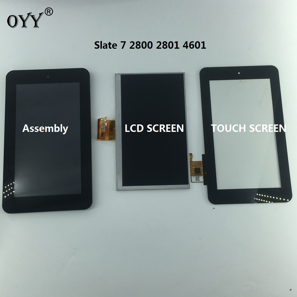 CLAA070NO01 CLAA070 N001 LCD display screen touch screen Digitizer Assembly Replacement Parts for HP Slate 7 2800 2801 4601 tested for hp touchsmart 813961 001 b156xtk01 0 15 6 lcd screen display touch 1366x768