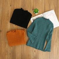 봄 어린이 속옷 옷 솔리드 스웨터