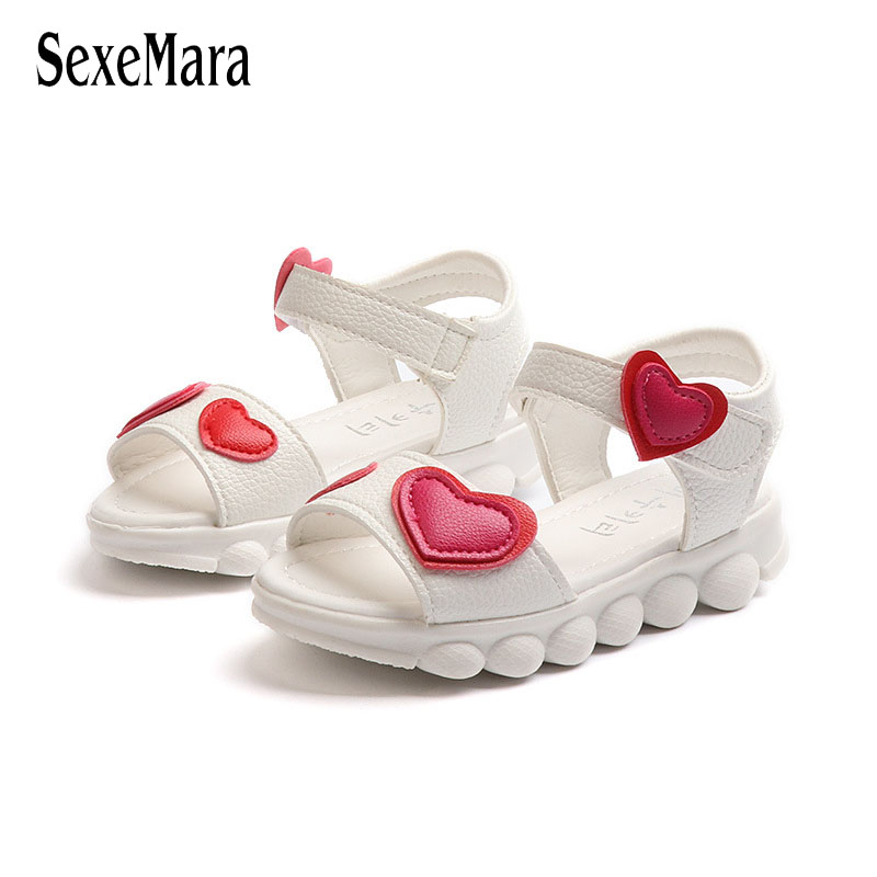 Lovely Heart Shape Children Sandals for Girls 2018 Summer Open Toe Sandals Kids Girls Ne ...