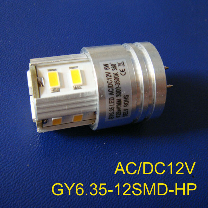 High quality 12V 6W GY6.35 led light,LED G6.35 bulb 12VAC/DC,GY6 led free shipping 2pcs/lot