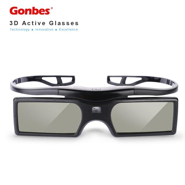 Gonbes G15 LCD 3D Óculos de Obturador Ativo DLP-link 1080 P Para Projetores  DLP c5dacb212c