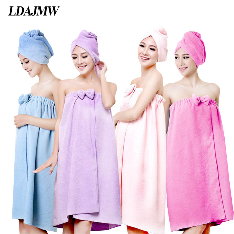 LDAJMW Hot High quality Ms Household Bathroom Bath Robe Amazing Magic Towel Microfiber Towel Sexy Suspenders Bath Skirt