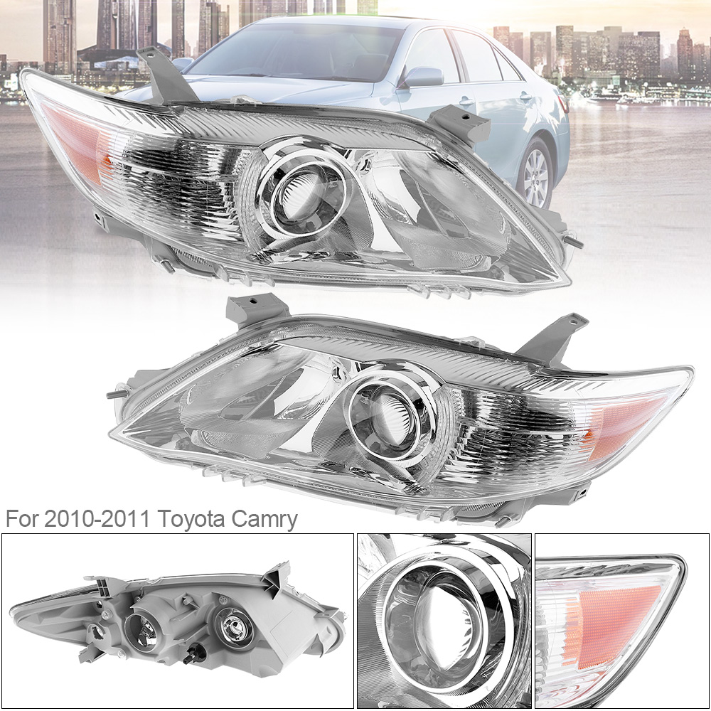 Waterproof Durable Headlamp Clear Projector Left And Right 2pcs Headlight Replacement US Built Model