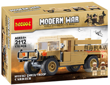 Decool 2112 170pcs/set Model War Vehicle w minifigure Poland Military M1097A2 Humvee Cargo Troop Transporter building block toys