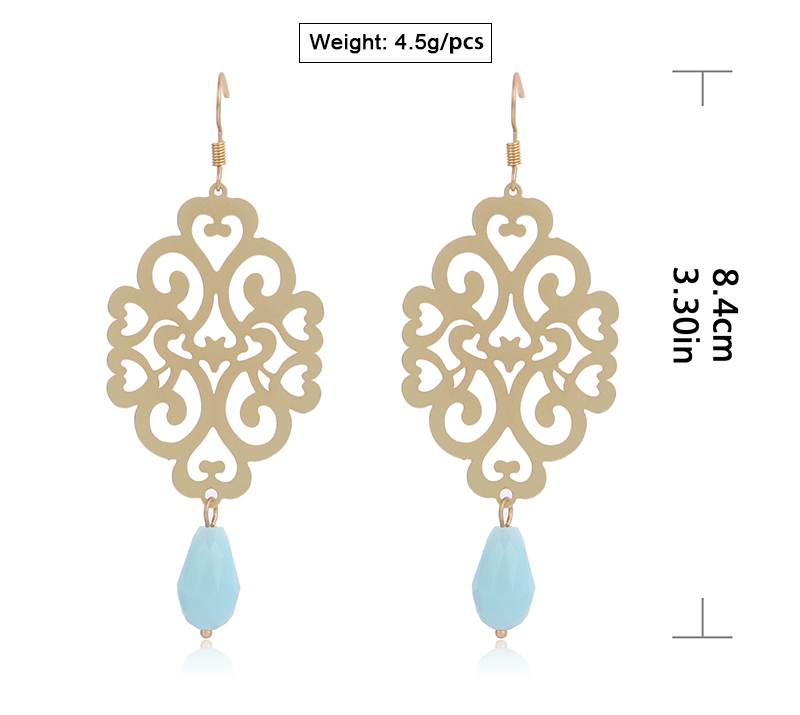 HTB1n47Gsb1YBuNjSszhq6AUsFXa9 - Badu Gold Drop Earring Copper Hollow Out Women Vintage Dangle Earrings Sky Blue Crystal Pendant Fashion Jewelry