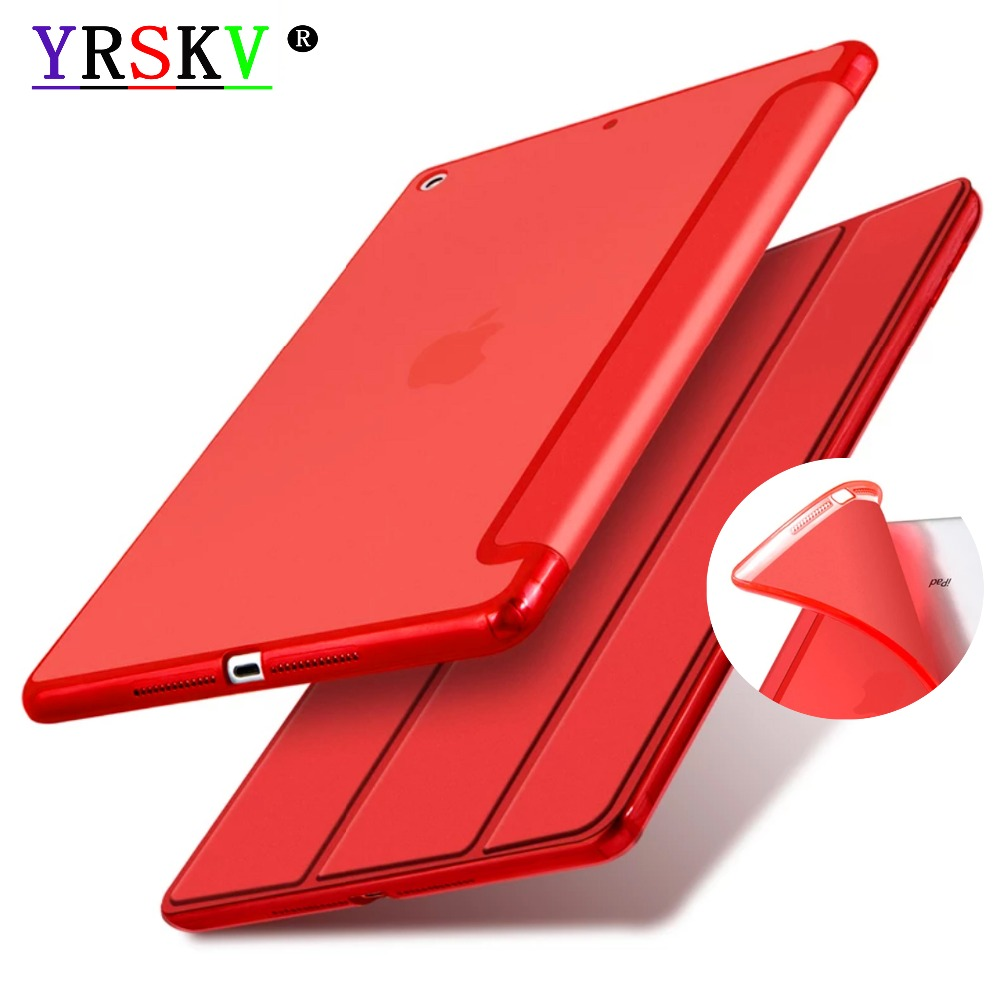 6th generation,Case for Apple iPad 9.7 inch 2018,2017,YRSKV,New,Color TPU,Translucent Back,PU Leather Wake up sleep,Smart Cover. protective tpu back case cover for xiaomi mi4 translucent white