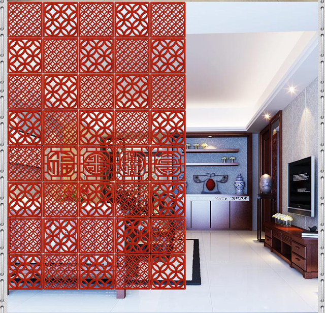 Hanging Wall Panels Stylish Mobile Wood Entrance Living Room Bedroom Hotel Restaurant Minimalist Modern Chinese Carved